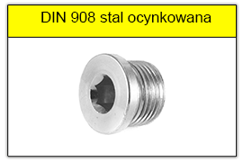 Korek DIN 908 A2 nierdzewny